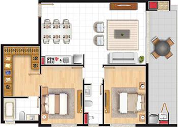 Apartamento 2D Studio Xavante