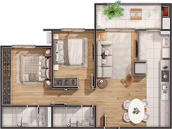 Apartamento Smart Park Pelotas